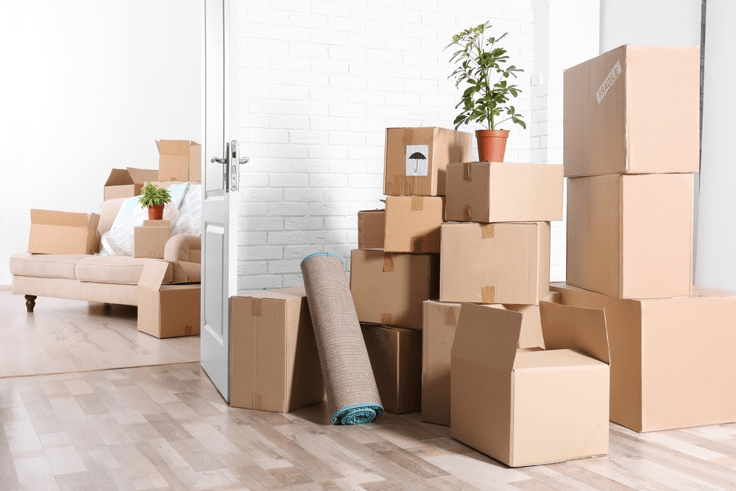 moving boxes - preparing to move